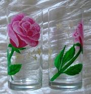 Роспись акрилом по стеклу и керамике